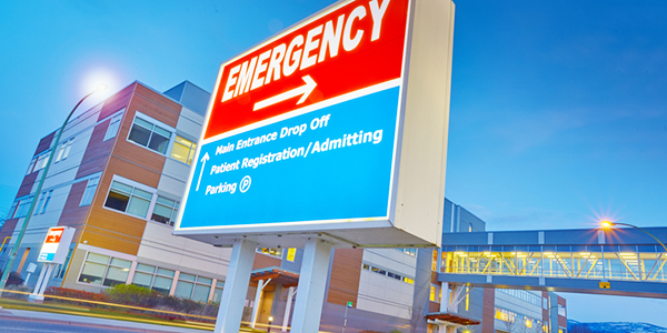 Hospital          emergeny sign