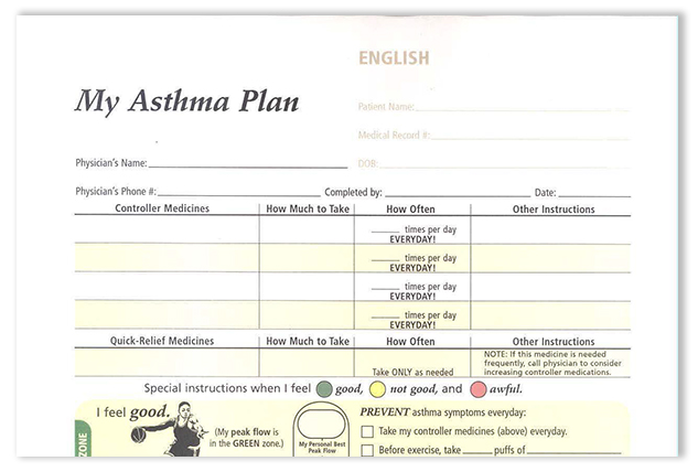 Adult Asthma Action Plan  Sutter Health