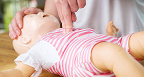 Infant CPR dummy