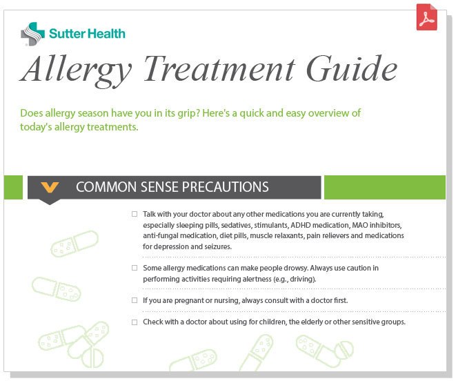 Preview of          the Allergy Treatment Guide pdf