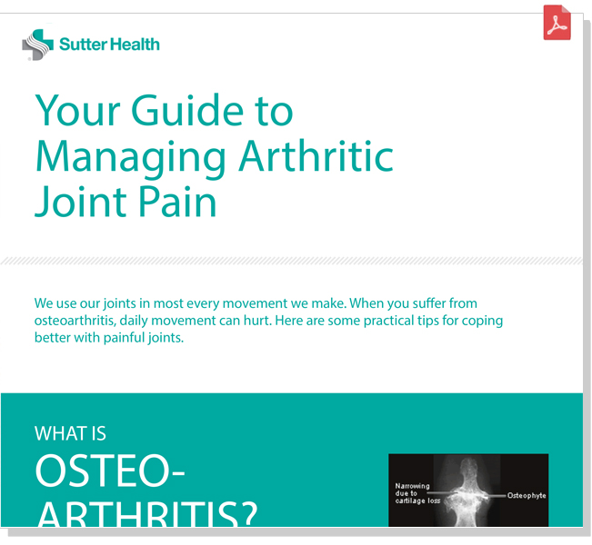 Preview          cover of Your Guide to Managing Arthiritic Joint Pain