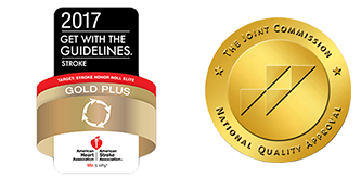 2017          Get with the Guidelines Stroke Gold Plus Award | Joint Commission Seal