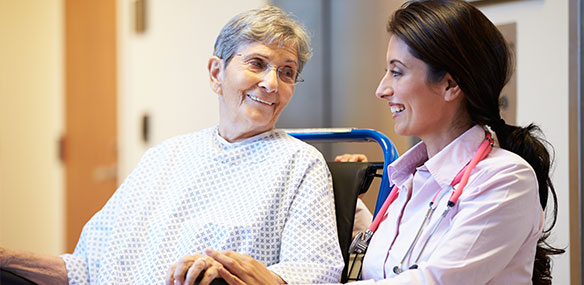 Indian doctor and patient