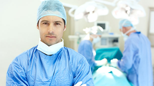 Male surgeon in operating room