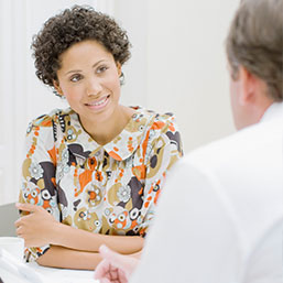 African American woman consultation with doctor
