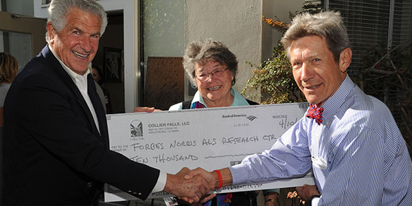 Vintner Barry Collier with donation