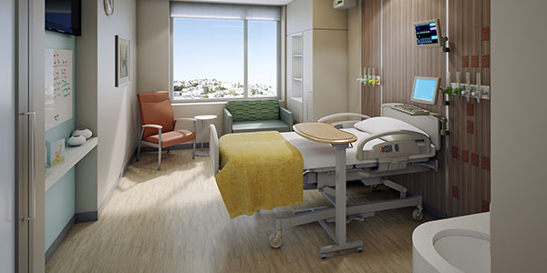 Mission Bernal hospital room